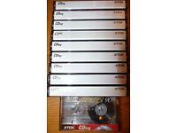 10 TDK 90 min Audio Cassette Tapes