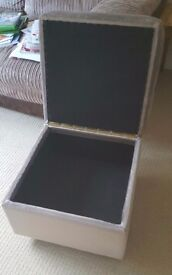 Light brown foot stool
