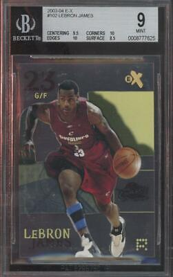 2003 Fleer E-X #102 LeBron James RC Rookie Mint BGS 9