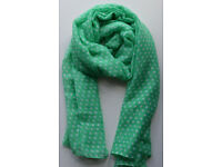New Ladies Women's Polka Dot Spot Scarf