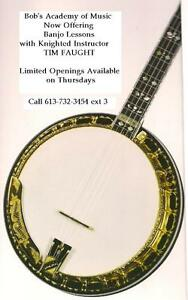 BOB'S MUSIC DOWNTOWN PEMBROKE BANJO LESSONS