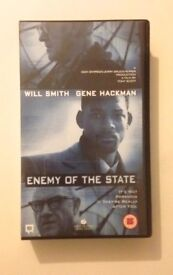 Enemy of the State VHS Video Tape. Tony Scott film (1998).