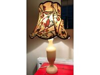 Cream Onyx Table Lamp and Shade
