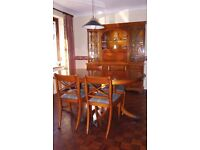 Bradley Dining Room Suite comprising Extendable Table , 4 Chairs and Sideboard China Display Unit