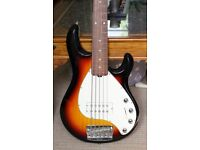 Ernie Ball Music Man Stingray 5 String Electric Bass - Sunburst with Rosewood fretboard
