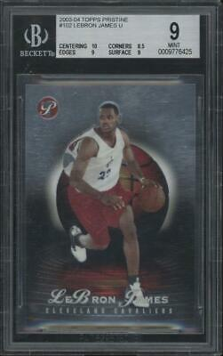 2003 Topps Pristine #102 LeBron James 062/999 RC Rookie Mint BGS 9