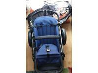 bugaboo cameleon 3 pram stroller pushchair buggy plus with rain cover umbrella seat pad