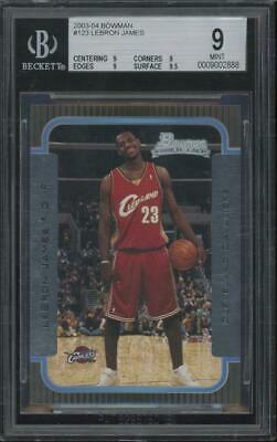 2003 Bowman #123 LeBron James RC Rookie Mint BGS 9