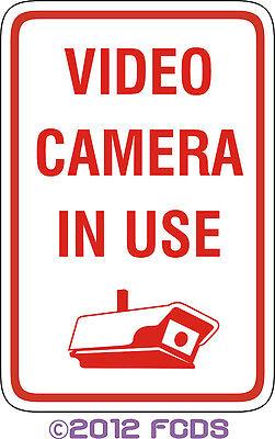 Video Camera In Use 12 X 18 Aluminum Sign