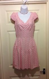 Heart Print Dress from Closet at Dorothy Perkins