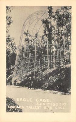 Eagle Cage SAN DIEGO ZOO Tallest Bird Cage California 1946 Vintage Postcard