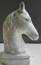 Stone effect horse's head paper weight