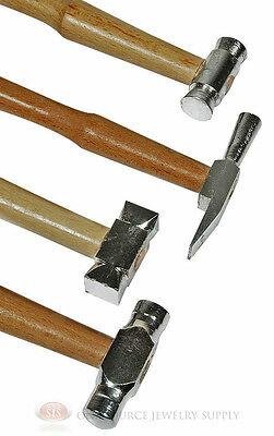 4 Piece Assorted Jewelers Steel Hammer Tool Set