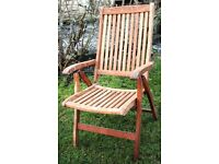 Pair ofWooden Garden chairs with cushions
