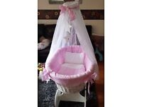 BARGINNN Newborn baby girl crib £60.00