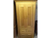 British-made, modern-style, high-quality Solid Oak Double Wardrobe/tallboy.
