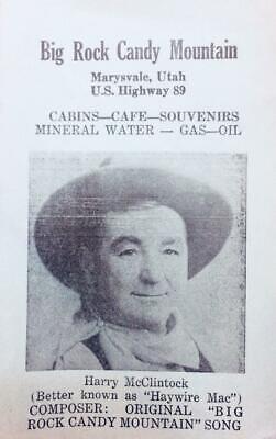 BIG ROCK CANDY MOUNTAIN Marysvale, Utah Song Lyrics ca 1950s Vintage - 1950 Song Lyrics