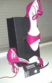VERSACE - PINK LEATHER HEELS - BRAND NEW!!!!