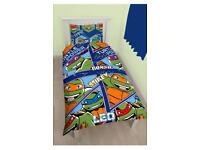 Brand new single teenage mutant ninja turtles duvet set