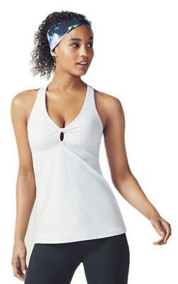 FABLETICS   Keyhole Back ELLIE BRA TANK TOP in White   NWT Large  (10)