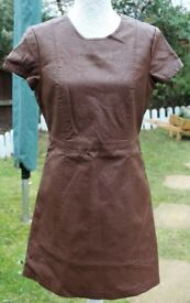 Denim Co Brown Faux Leather Dress UK12