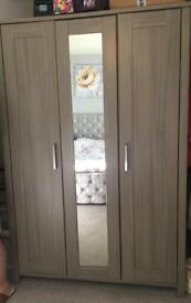 Grey double wardrobe