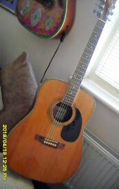 WESTFIELD Acoustic 6 string model WF400 N. Very nice player vgc. set and strung