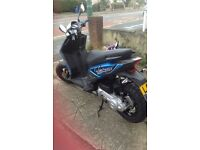 Blue piaggio typhoon 49cc de restricted. Nine months old in great condition only 1488 miles done.