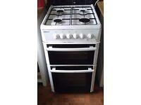 Beko gas cooker - white - full working order