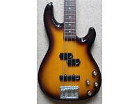 Fender Lyte Precision Bass Guitar Made in Japan 1994 Sunburst