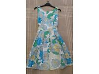 Size 14 Dress Dorothy Perkins Worn Once Blue / White / Yellow Floral £4