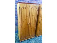 Lovely solid pine wardrobe. 2 Available separately
