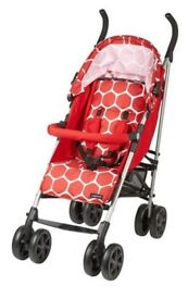 Ladybird Stroller with Footmuff and Raincover, Red