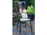 LARGE ANTIQUE WOODEN CHAIR