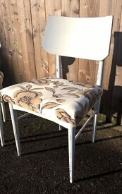 Pair of Retro wooden chairs hand painted and recovered