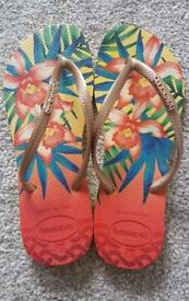 Brand new - Original Brazil havaianas flip flops slim tropical