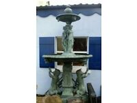 8FT TALL BRONZE FOUNTAIN