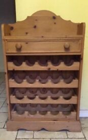 Farmhouse Pine Wine Rack - Beautifully made and in nice condition