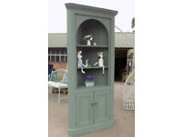 Large Painted Pine Corner cabinet