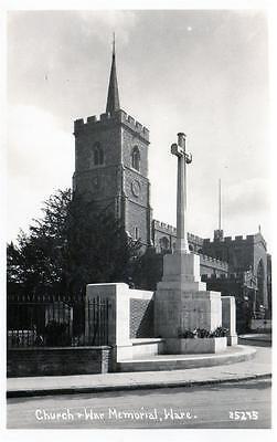 Ware Church War Memorial unused RP old postcard  Good