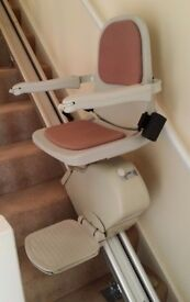 Acorn Stairlift Superglide 120 Straight Right Hand Side 4.16m long 13 Steps Serviced Jan 2017