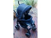 Silver cross 3D Monodot Pram With Raincover and footmuffs