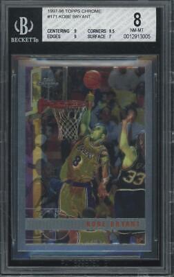 1997 Topps Chrome #171 Kobe Bryant (9 9.5 9 7) BGS 8