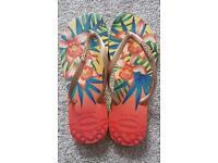 Brand new - Original Brazil havaianas flip flops slim tropical