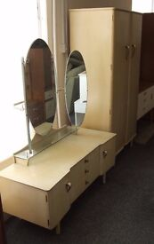 Wardrobe with matching dressing table