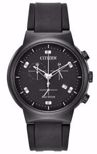 Citizen AT2405-01E Men's Eco-Drive Paradex Black IP Black Dial Chronograph Watch