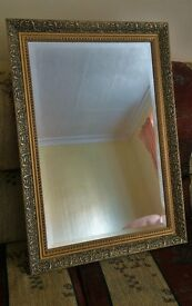 """21"""" x 30"""" mirror. Nice quality heavy mirror with a gilded frame in good condition. REDUCED"""