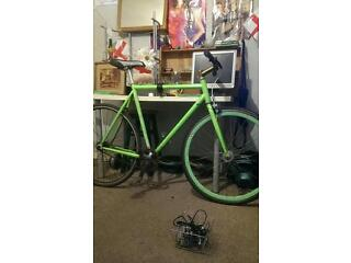 Fixed crank bike green