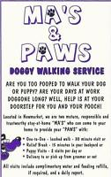 MA'S & PAWS DOG WALKING  NEWMARKET - GLENWAY BATHURST/DAVIS