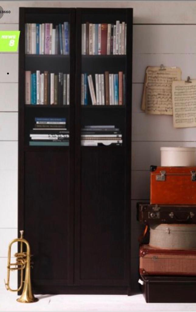 Billy Ikea Bookcase With Glass Doors In Neasden London Gumtree